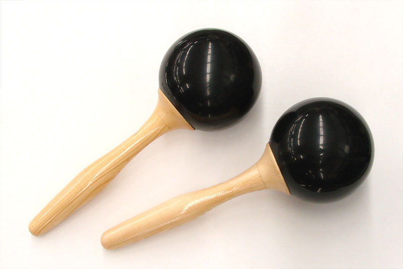 Fissaggi Wood Maracas Black - Medium Sized