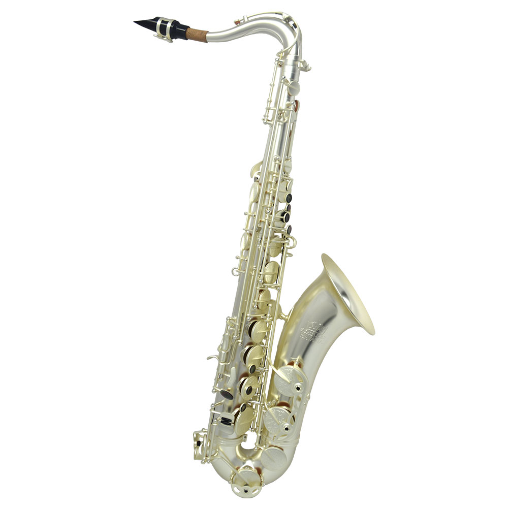 Schiller Havana Tenor Saxophone - Sandblasted Silver Plated with Totem Key