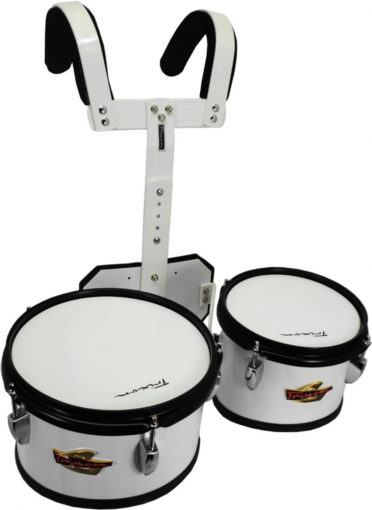 eee34fa67b3a Trixon Junior Marching Toms – Set of 2 – White – Jim Laabs Music Store