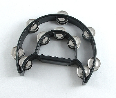 Trixon Professional Moon-Shaped Tambourine - Black