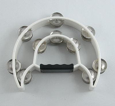 Trixon Professional Moon-Shaped Tambourine - White