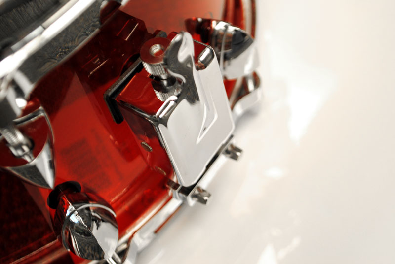 Trixon Soloist Acrylic Snare Drum Red Die Cast
