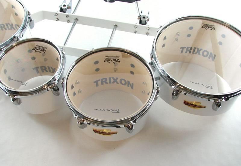 Trixon Field Series Tenor Marching Toms - Set of 4 - White