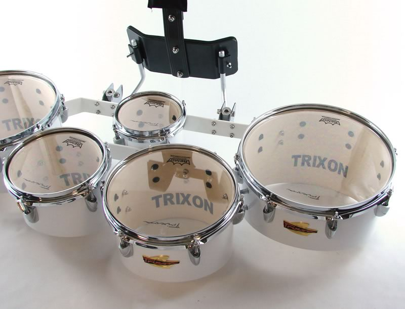 Trixon Field Series Tenor Marching Toms - Set of 5 - White