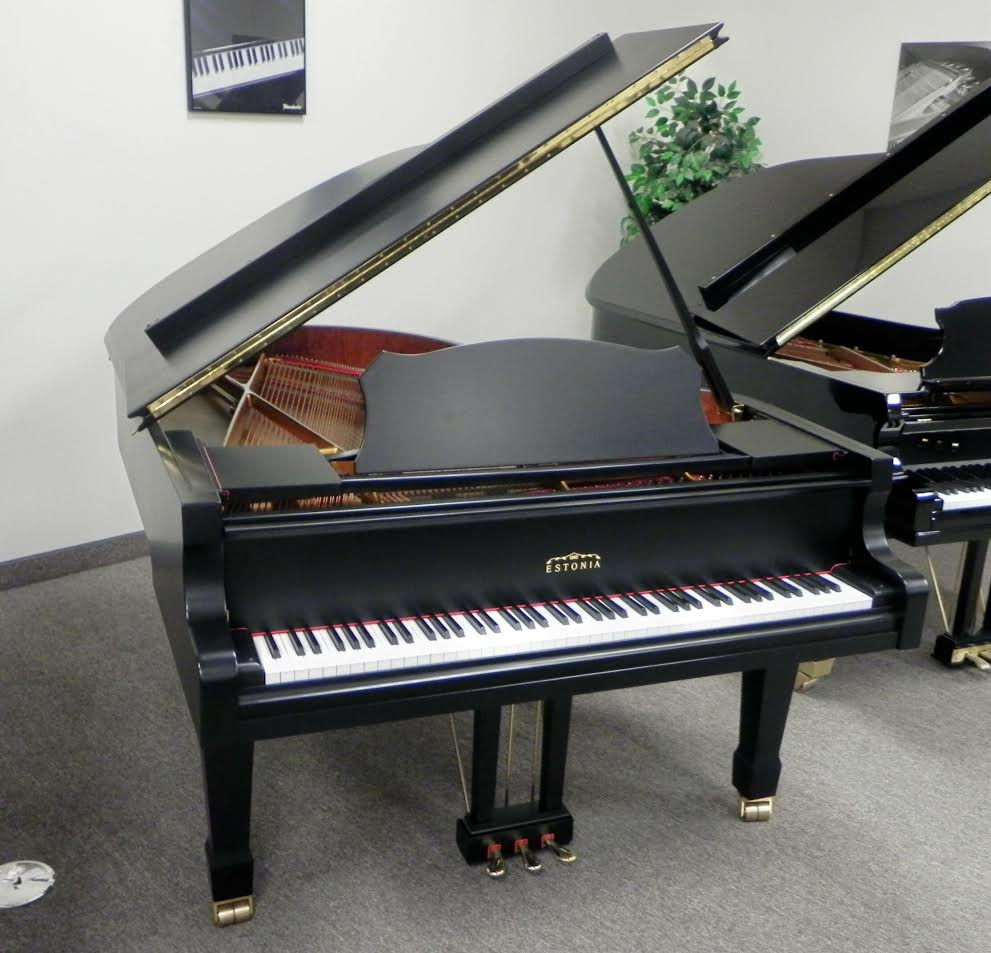 Estonia 190 Grand Piano Ebony Satin