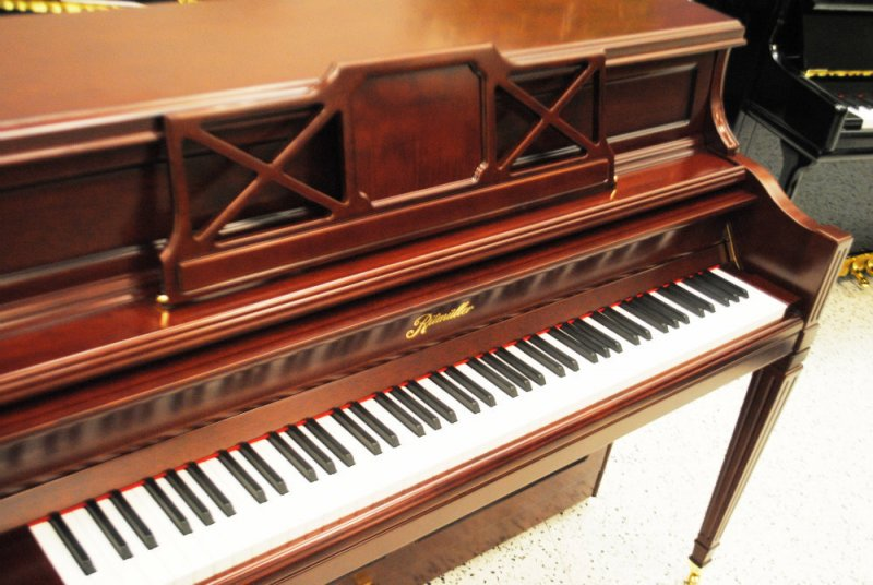 Ritmuller Decorator Console Upright PIano - Semi Satin Cherry