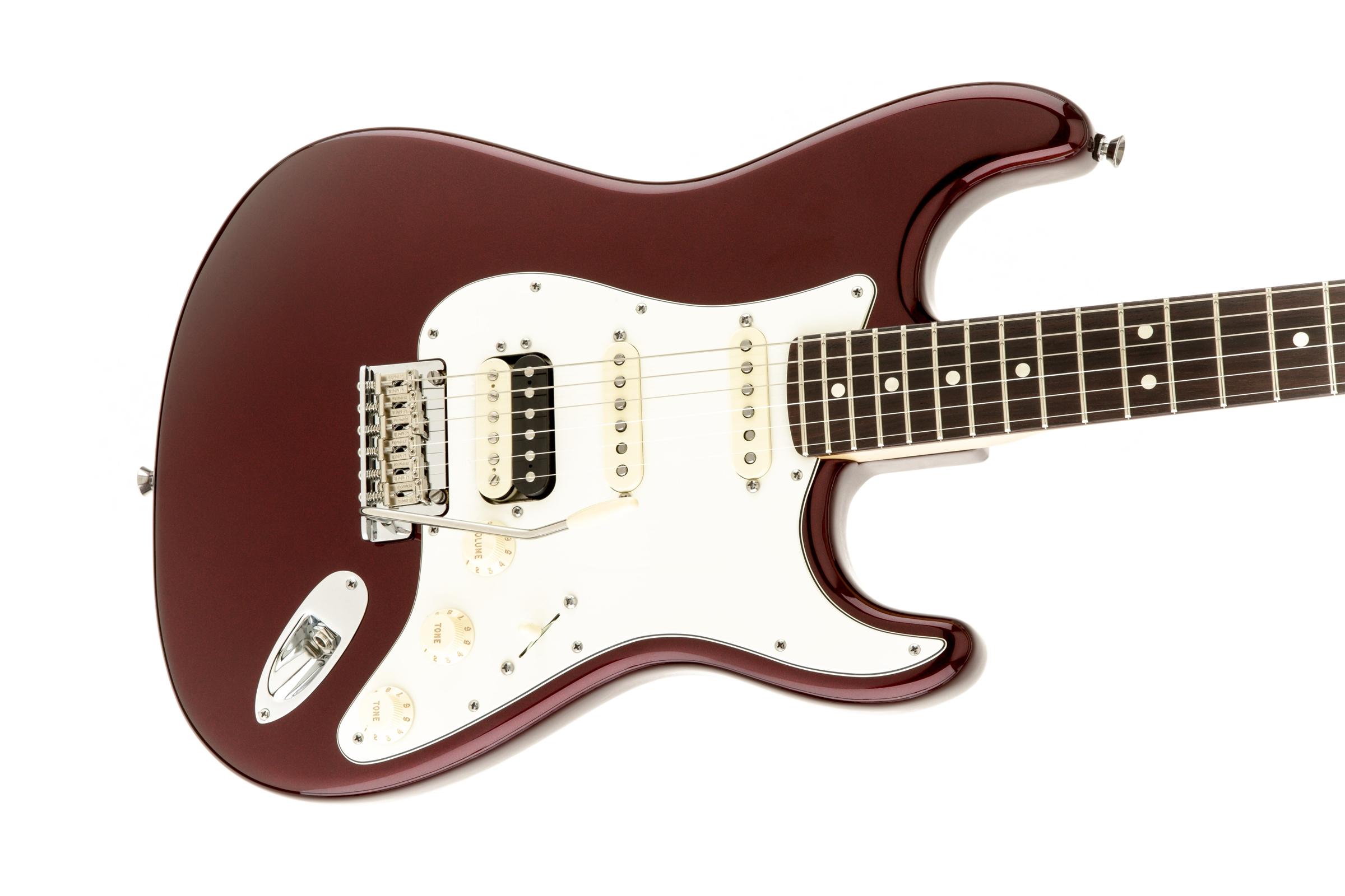 Fender American Standard Stratocaster® HSS Shawbucker™ Bordeaux Metallic Rosewood Fingerboard Electric Guitar