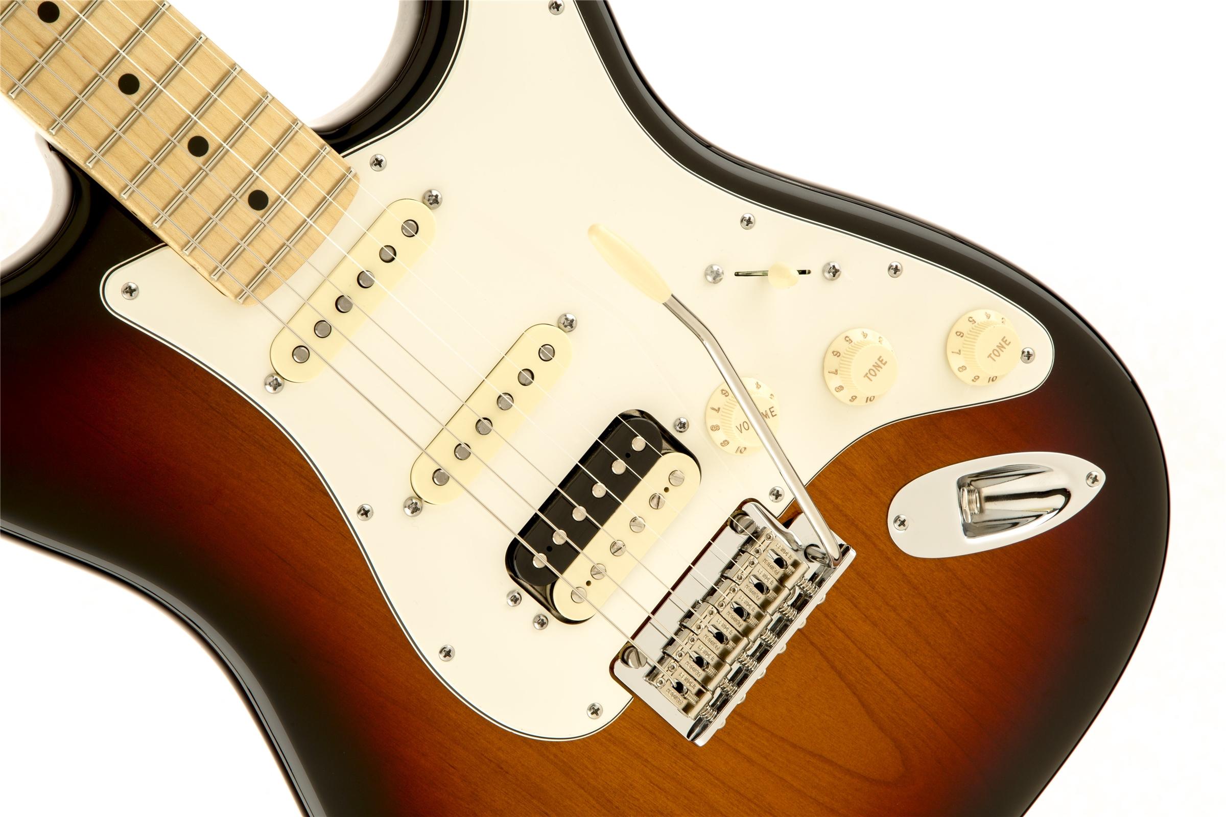 Fender American Standard Stratocaster® HSS Shawbucker™ 3-Color Sunburst Maple Fingerboard Electric Guitar