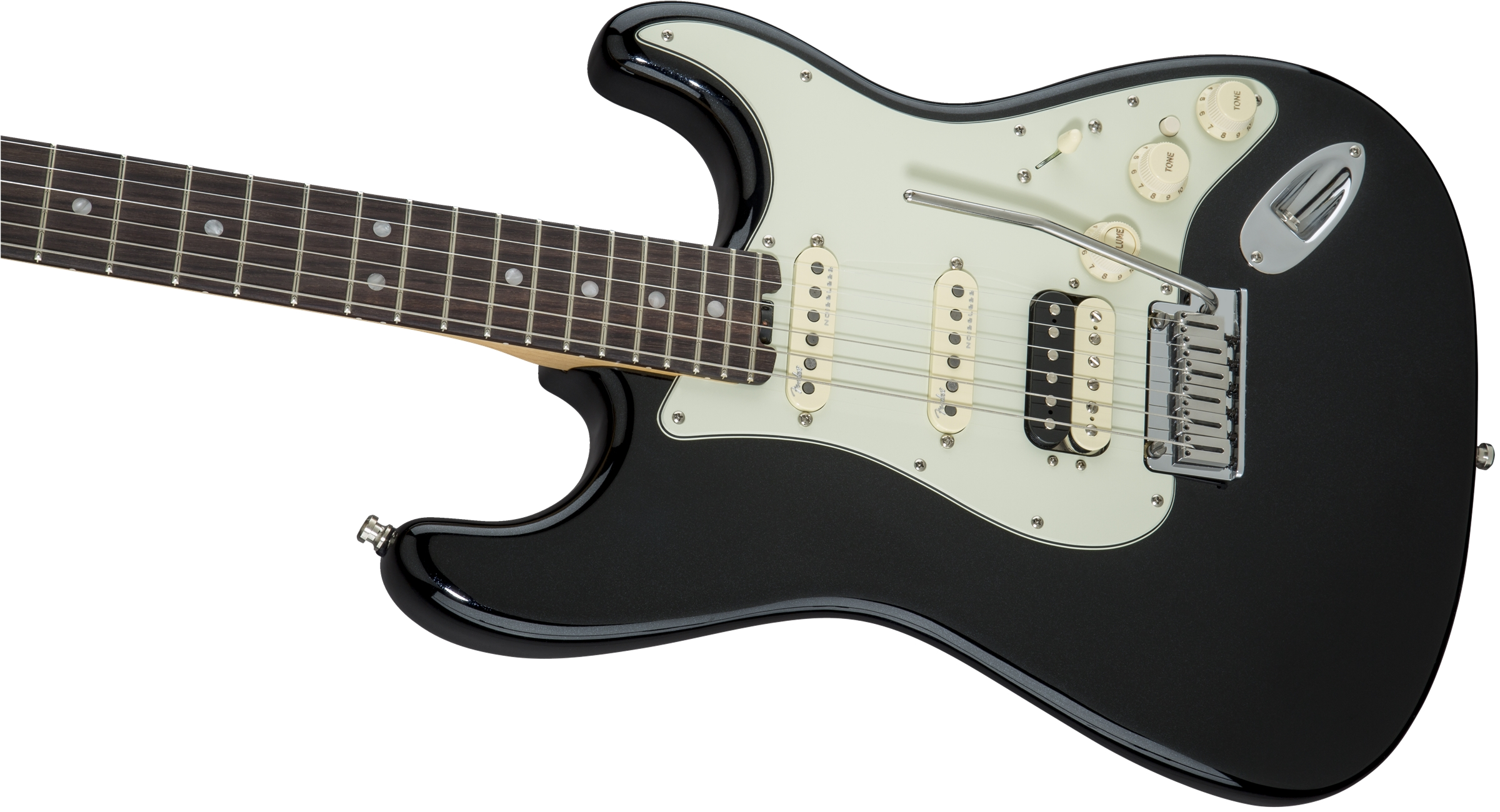 Fender American Elite Stratocaster® HSS Shawbucker Mystic Black Rosewood Fingerboard Electric Guitar