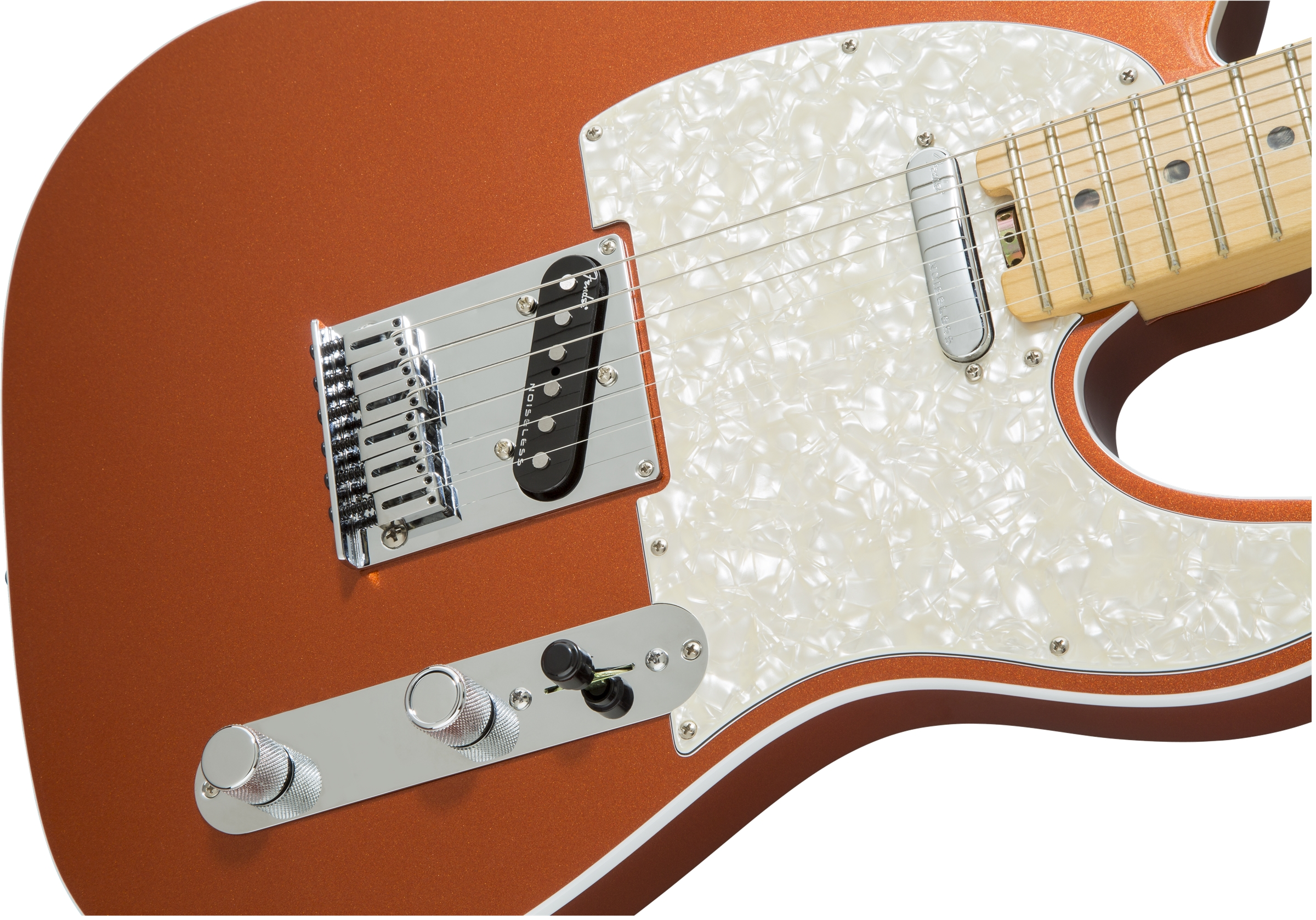 Fender American Elite Telecaster® Autumn Blaze Metallic Maple Fingerboard Electric Guitar