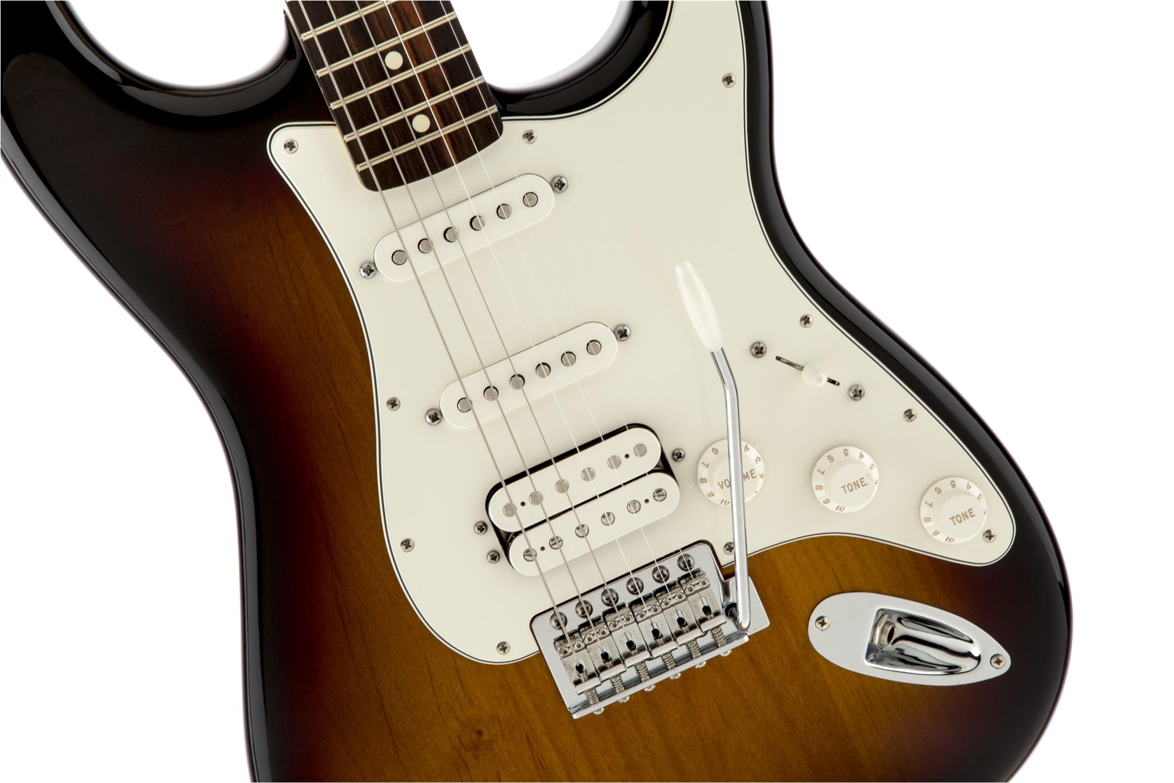 Fender Standard Stratocaster® HSS Brown Sunburst Rosewood Fingerboard Electric Guitar
