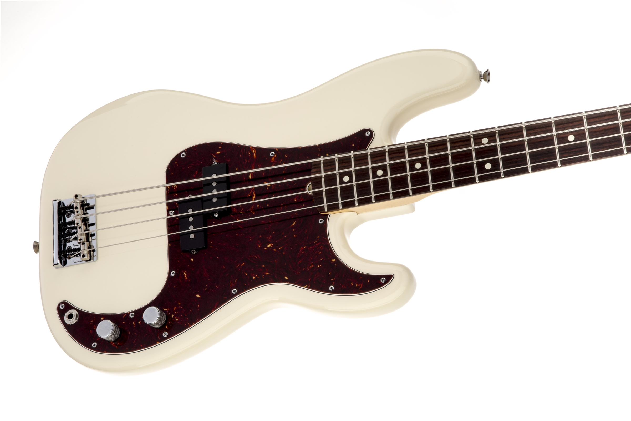Fender American Standard Precision Bass® Olympic White Rosewood Fingerboard Electric Bass Guitar