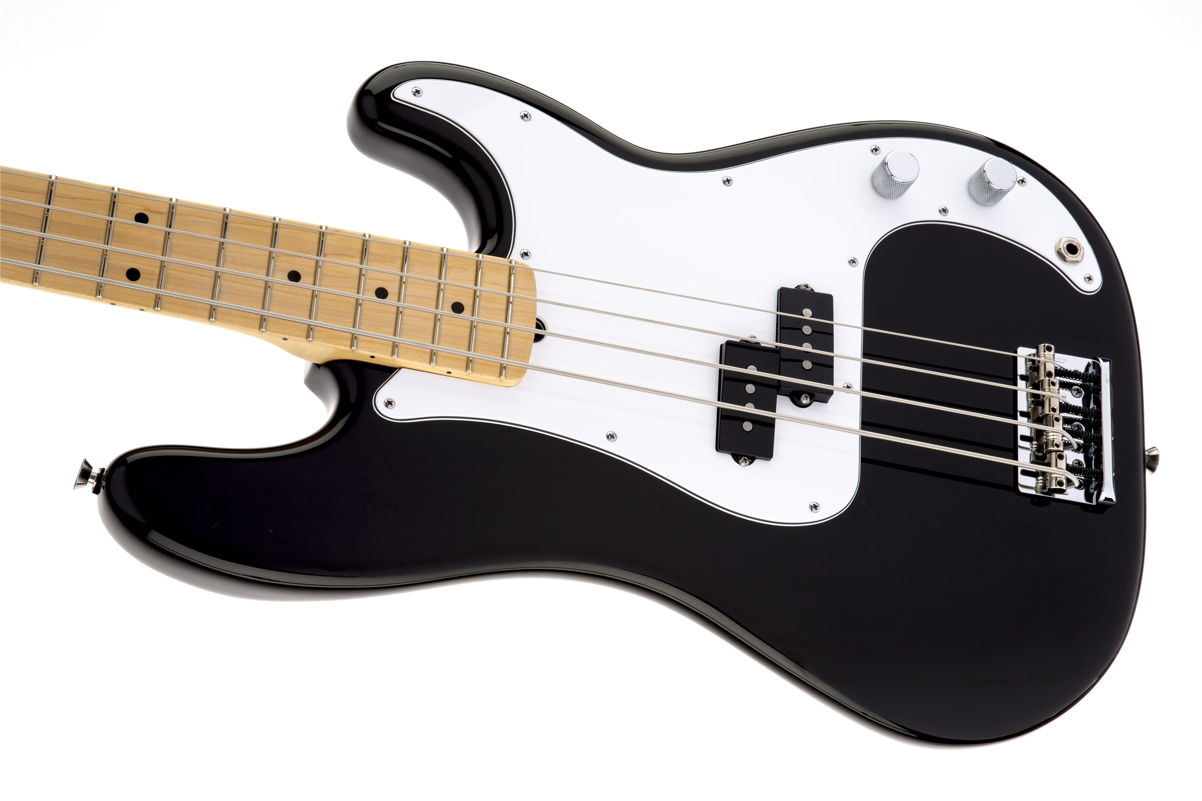Fender American Standard Precision Bass® Black Maple Fingerboard Electric Bass Guitar