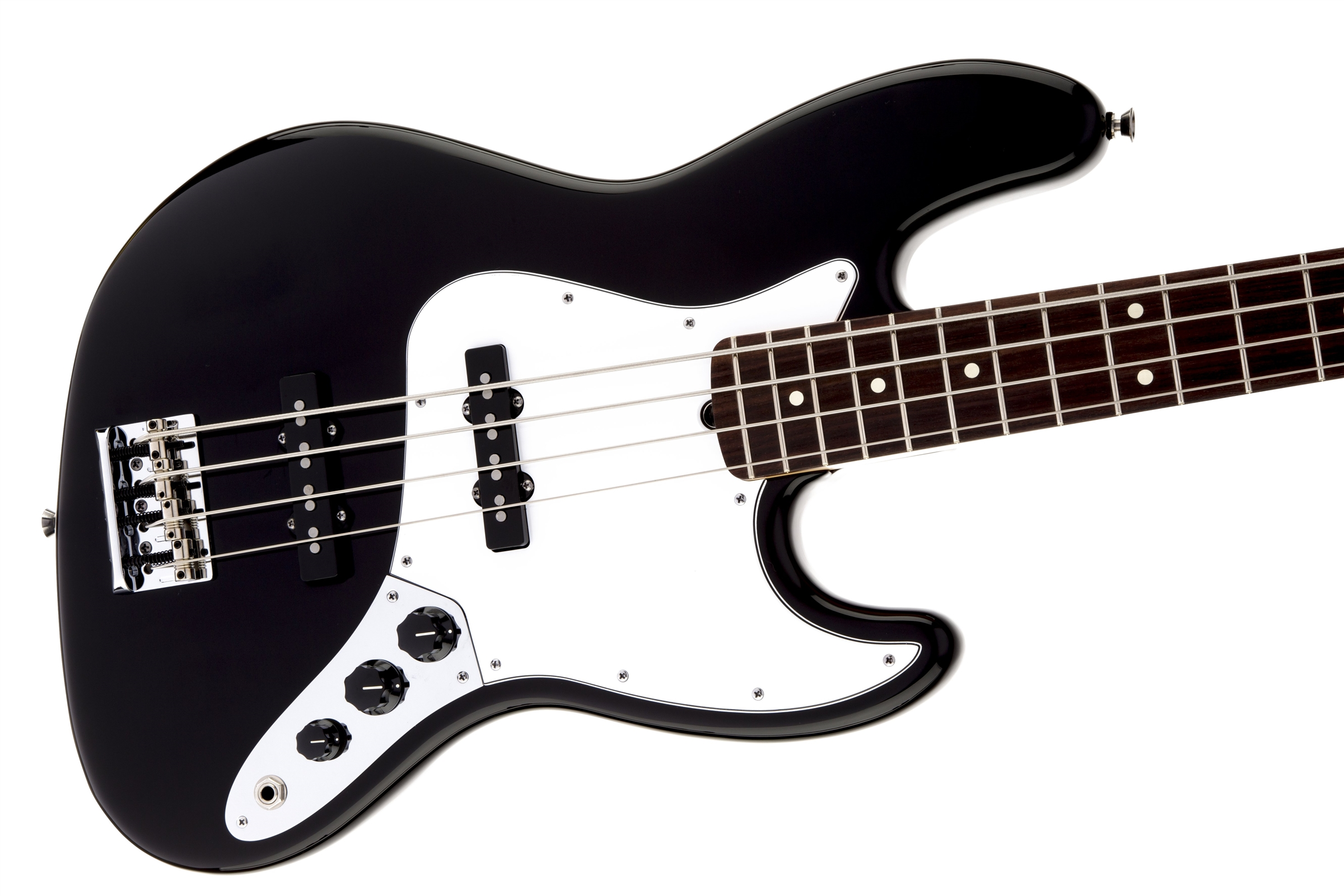 Fender American Standard Jazz Bass® Black Rosewood Fingerboard Electric Bass Guitar