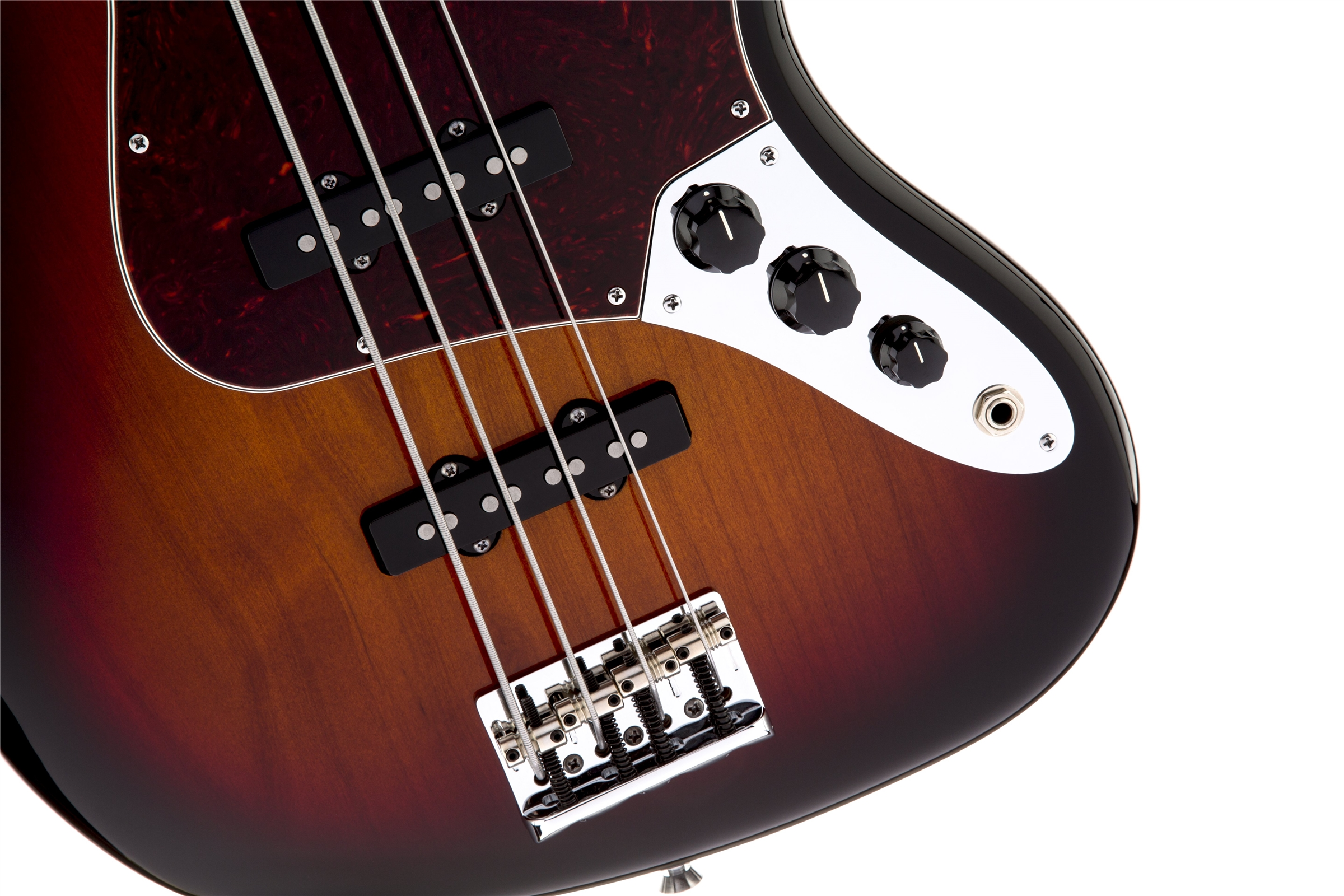 Fender American Standard Jazz Bass® Fretless 3-Color Sunburst Rosewood Fingerboard Electric Bass Guitar