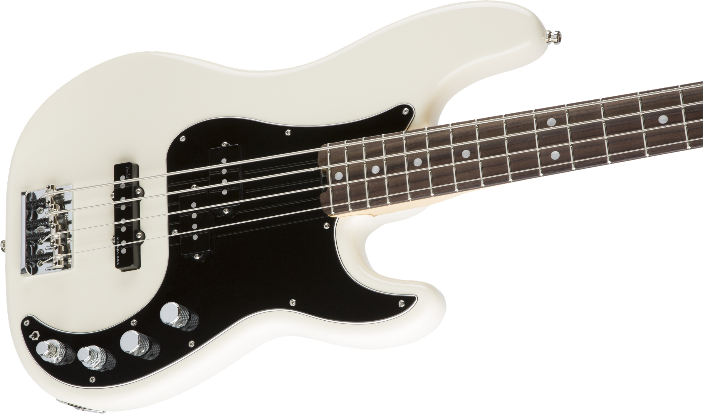Fender American Elite Precision Bass® Olympic White Rosewood Fingerboard Electric Bass Guitar