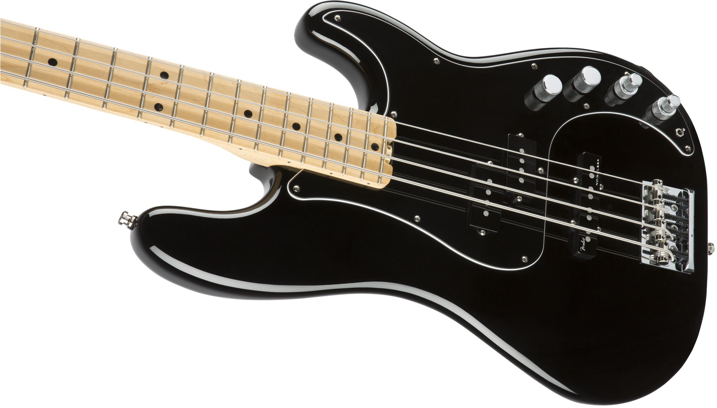 Fender American Elite Precision Bass® Black Maple Fingerboard Electric Bass Guitar