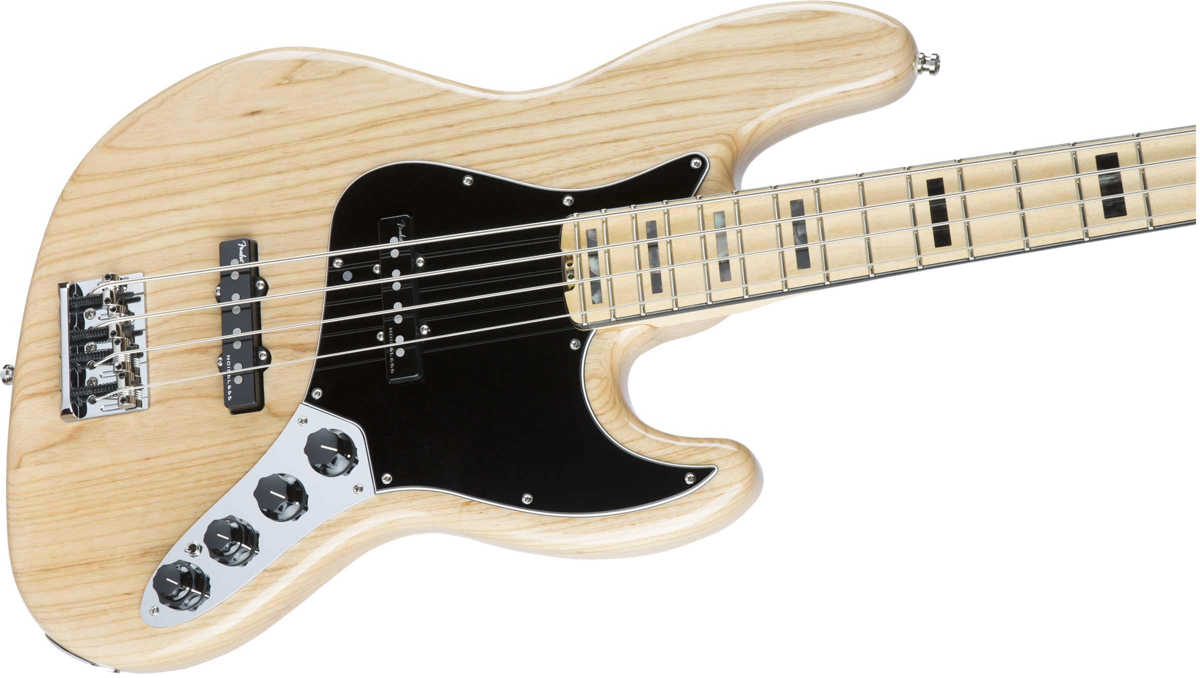 Fender American Elite Jazz Bass® Natural Maple Fingerboard Electric Bass Guitar