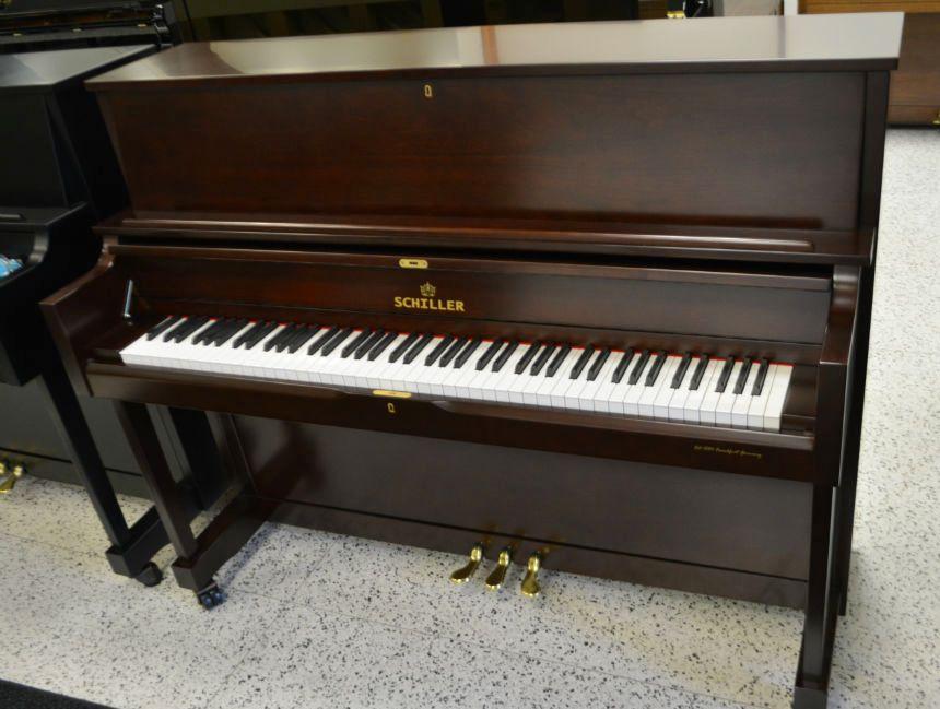 Schiller Performance Frankfurt Upright Piano – Cherry Mahogany