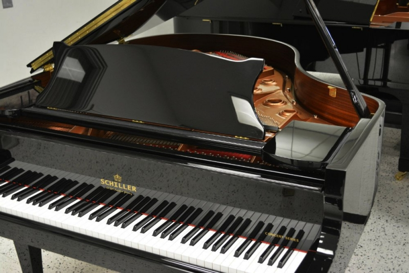 Schiller Concert 5.10 Grand Piano - Ebony Polish