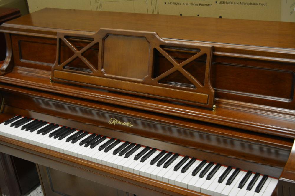 Ritmuller Upright Piano 115 Walnut Satin