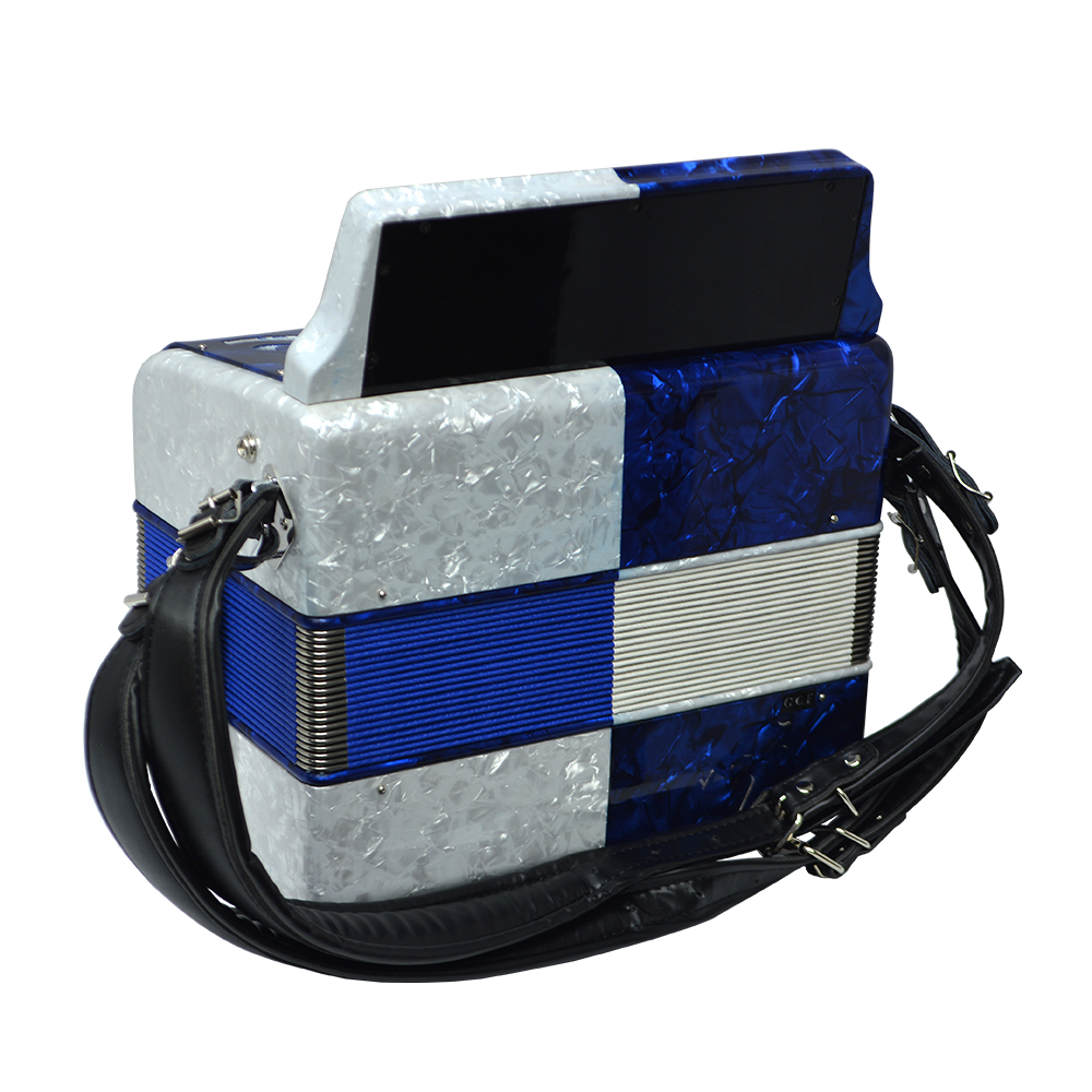 Excalibur Super Classic PSI 3 Row - Button Accordion - Blue/White - Key of GCF