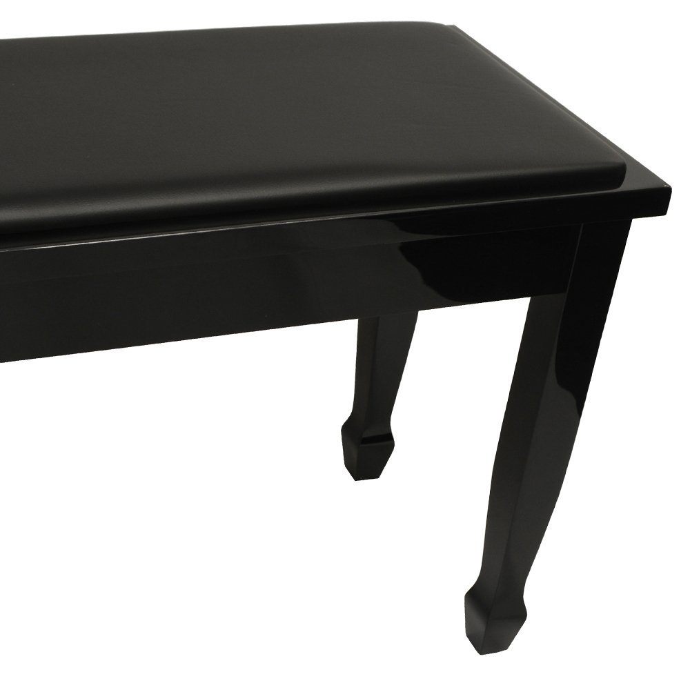 Frederick Deluxe Piano Bench Ebony Polish
