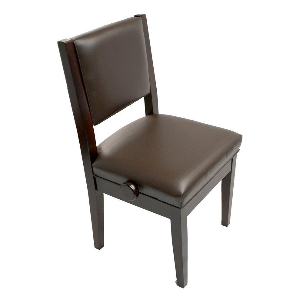 Frederick Studio Padded Adjustable Piano Chair - Mahogany Satin