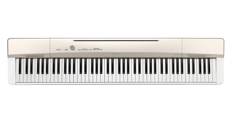 superior size of piano #7: Casio Privia PX160GD 88-Key Full Size Digital Piano - Gold