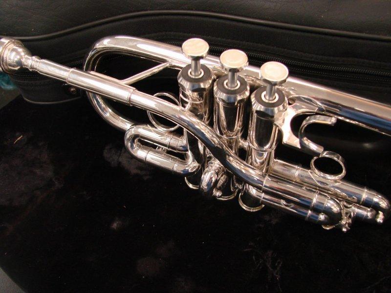 Schiller D/Eb Trumpet Silver Plated [Floor Model]