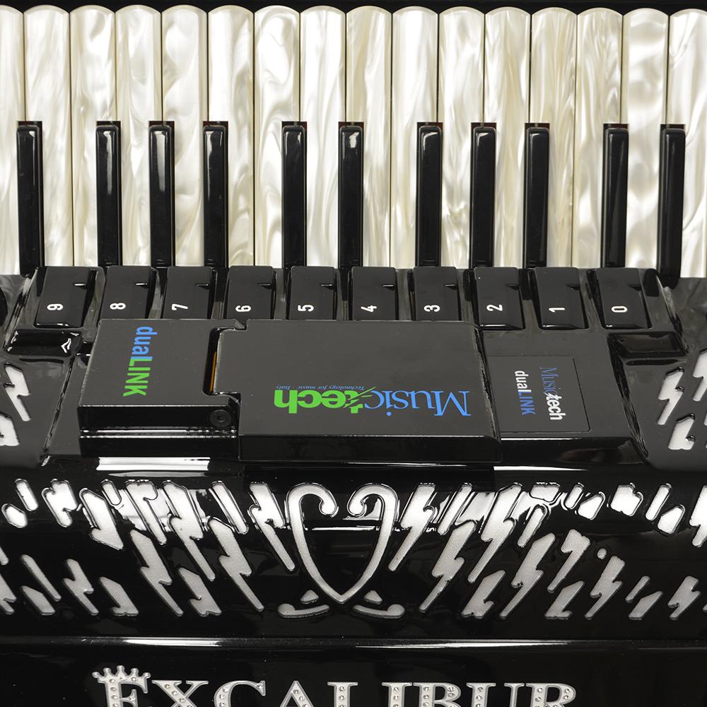 Excalibur EXL Real Digital Accordion 120 Bass - Ebony Polish