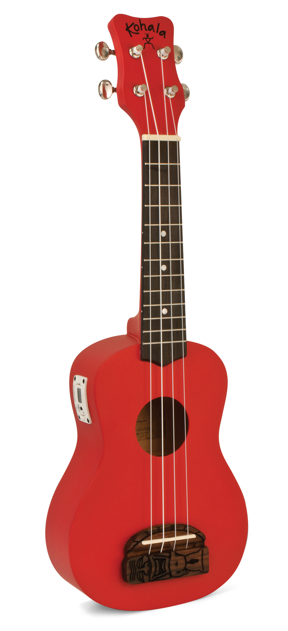 Kohala KT-STRD Tiki Uke Red Soprano Ukulele with Built-in-Tuner
