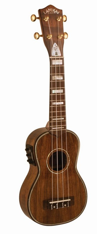 Lanikai LK-SEU UkeSB Series Koa USB Equipped Acoustic-Electric Soprano Ukulele