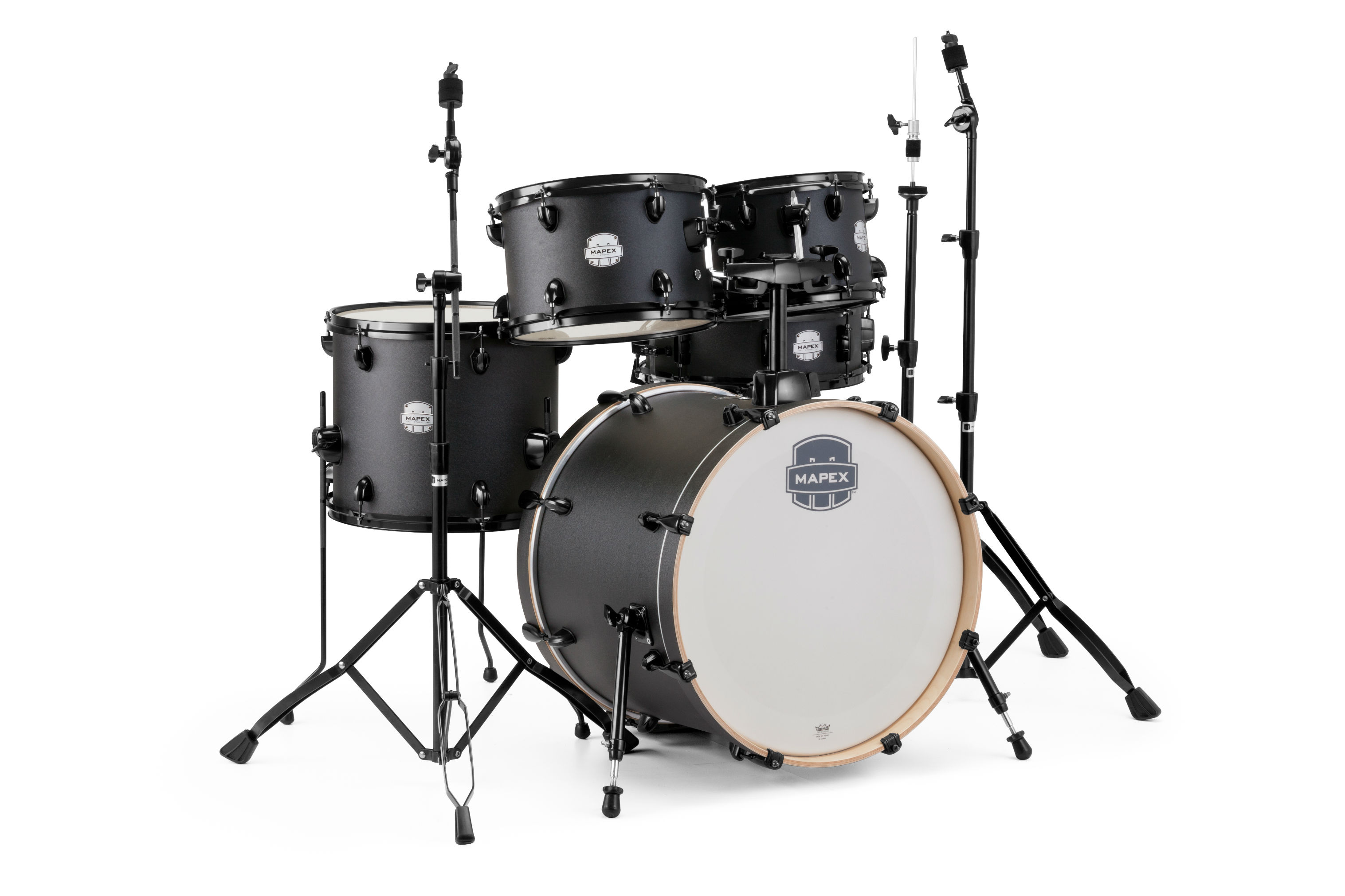 Mapex Storm 5Pc Fusion Drum Set - ST5045FIZ - Deep Black