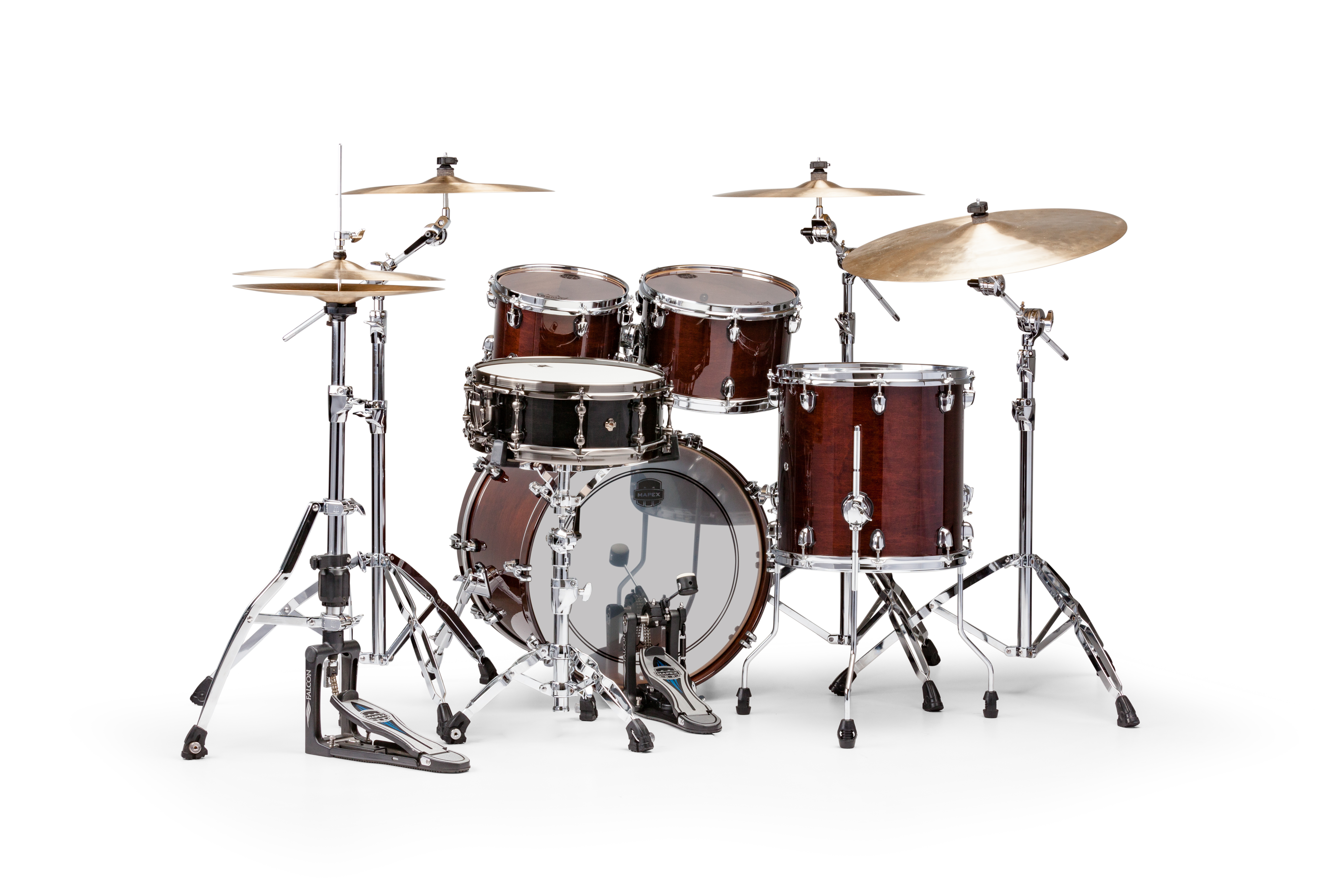 Mapex Saturn V MH Fusion 4-piece shell pack with SONIClear Edge - SV504XTW - Transparent Espresso Walnut