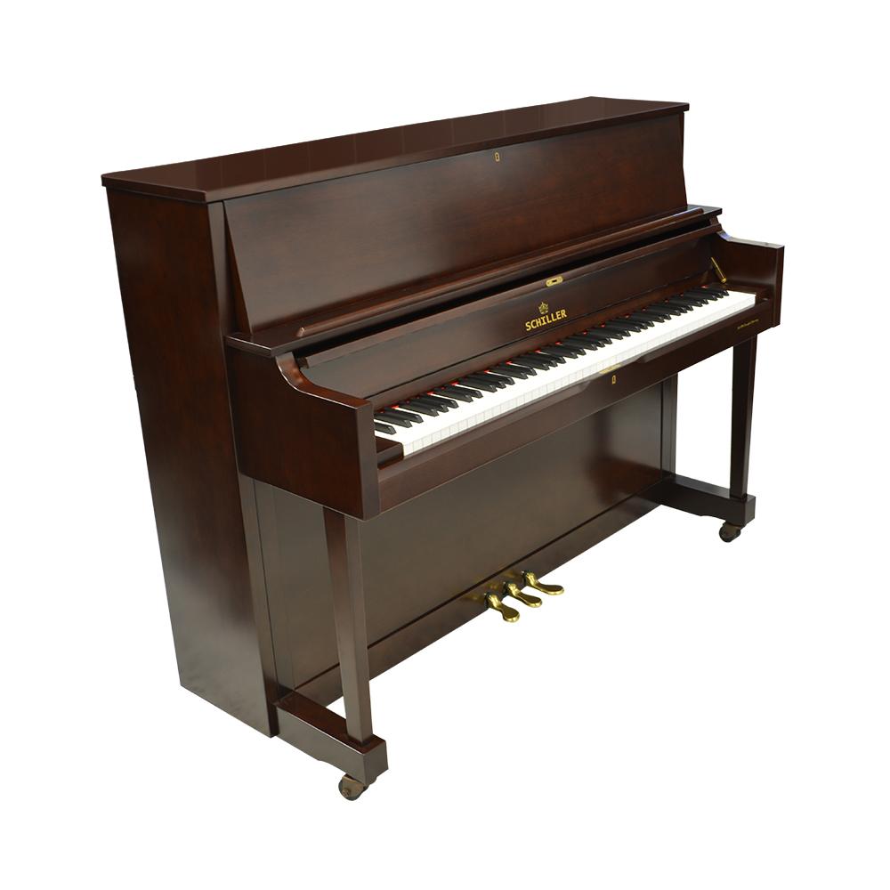 Schiller Performance Frankfurt Upright 46S Upright Piano - Mahogany Satin
