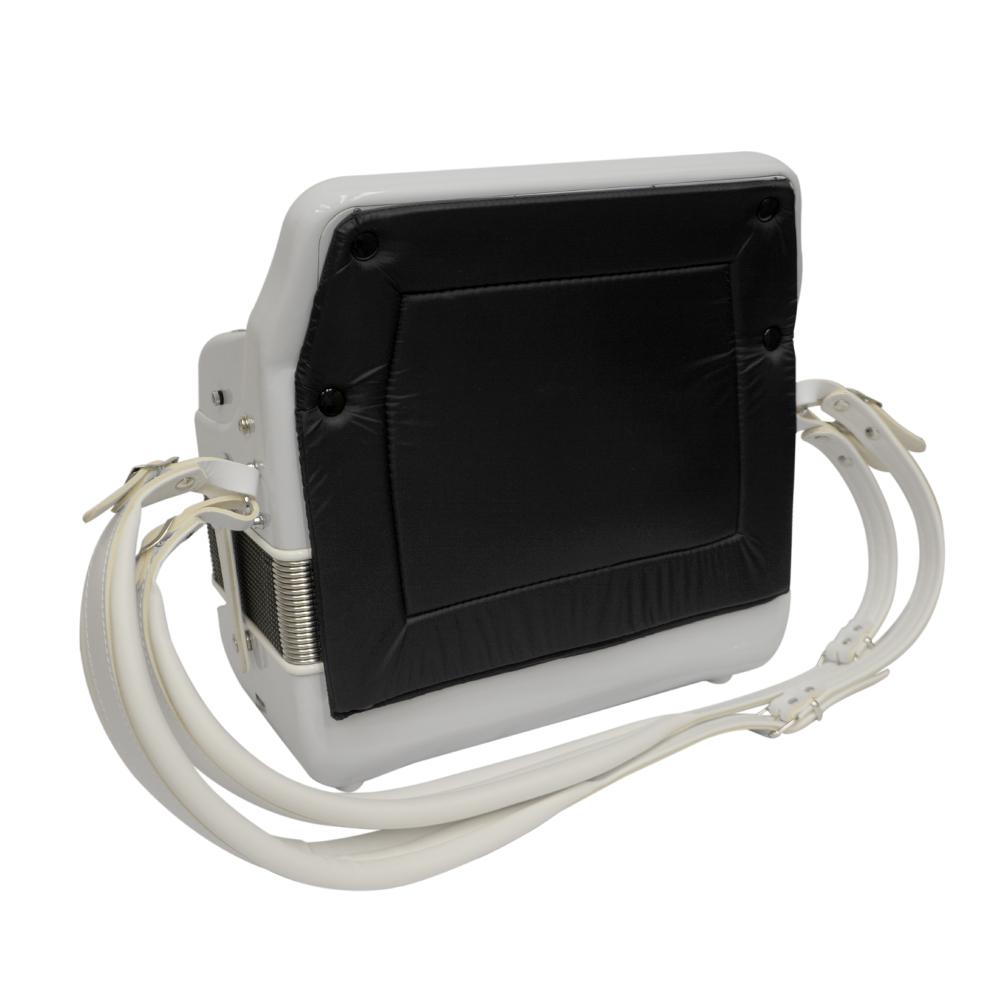 Excalibur Veracruz 5 Switch Button Accordion - White