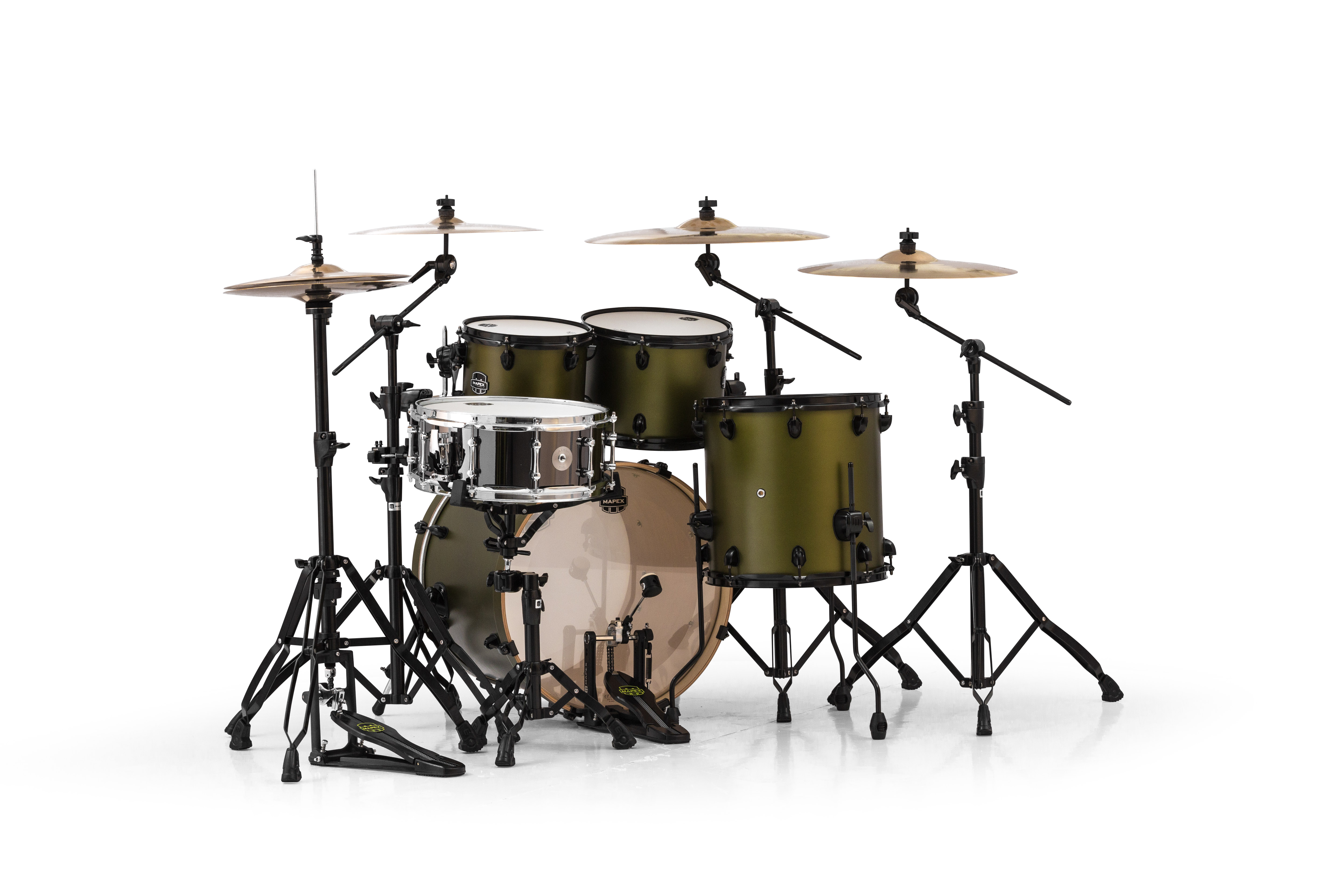 Mapex Armory 5 Piece Fusion Shell Pack - AR504SBGM - Mantis Green