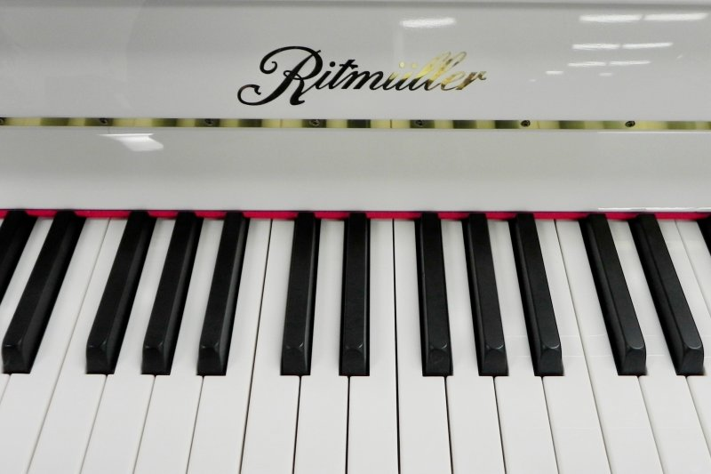 Ritmuller Upright Piano - White Polish