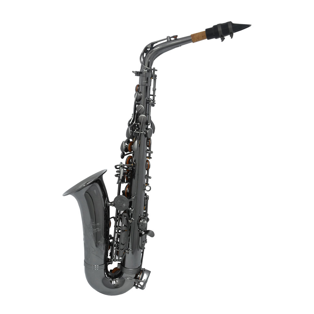 Schiller Havana Alto Saxophone - Black Nickel with Brushed Black Nickel Totem Keys