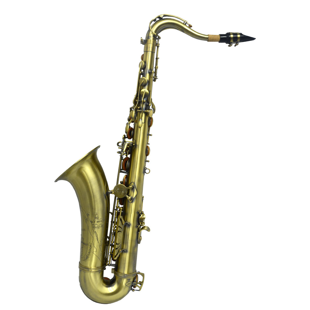 Schiller Havana Tenor Saxophone - Antique Lacquer with Totem Keys