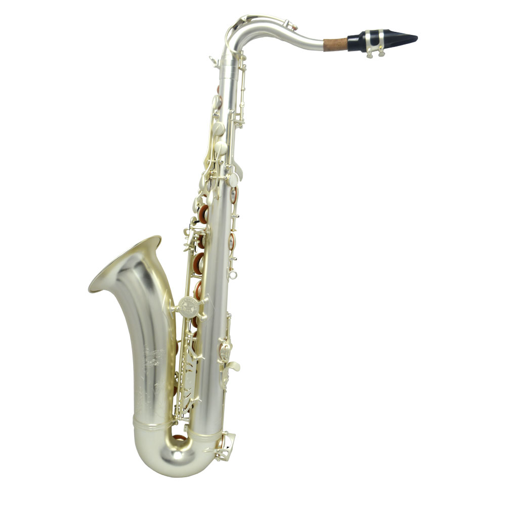 Schiller Havana Tenor Saxophone - Sandblasted Silver Plated with Totem Key