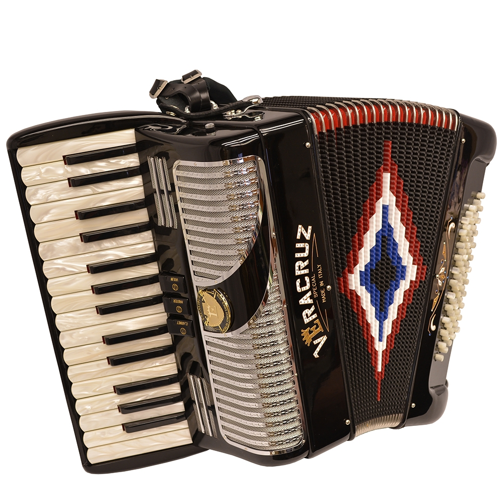 Excalibur Veracruz MII 60 Bass Piano Accordion - Black & Chrome
