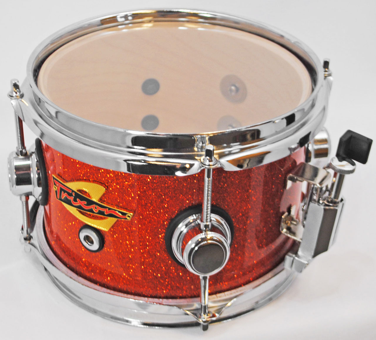 Trixon Elite Popcorn Snare Drum - Orange Sparkle