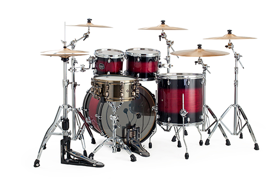 Mapex Saturn V MH Rock 4-piece shell pack with SONIClear Edge - SV529XUCL - Merlot Burst