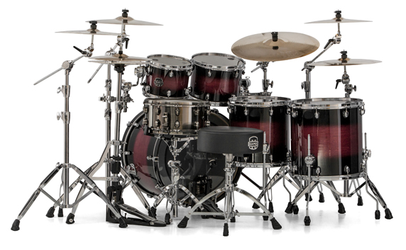 Mapex Saturn V MH Studioease 5-piece shell pack with SONIClear Edge - SV628XUCL - Merlot Burst