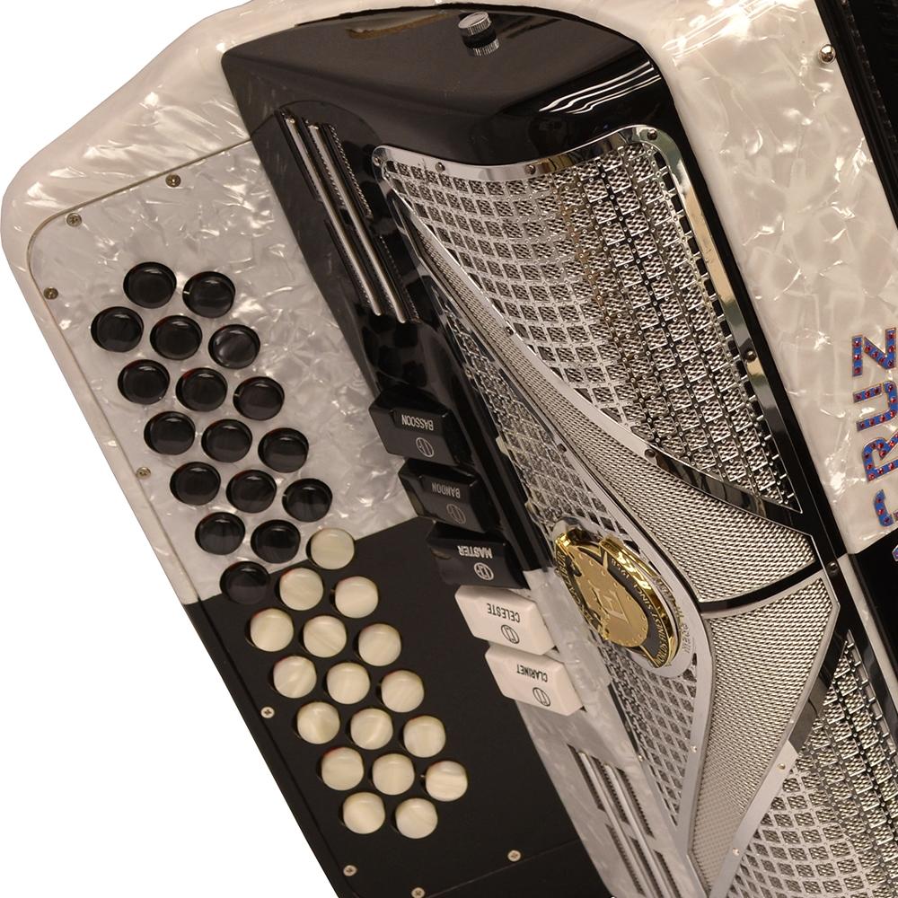 Excalibur Veracruz Special Edition 5 Switch Button Accordion - Black Checker