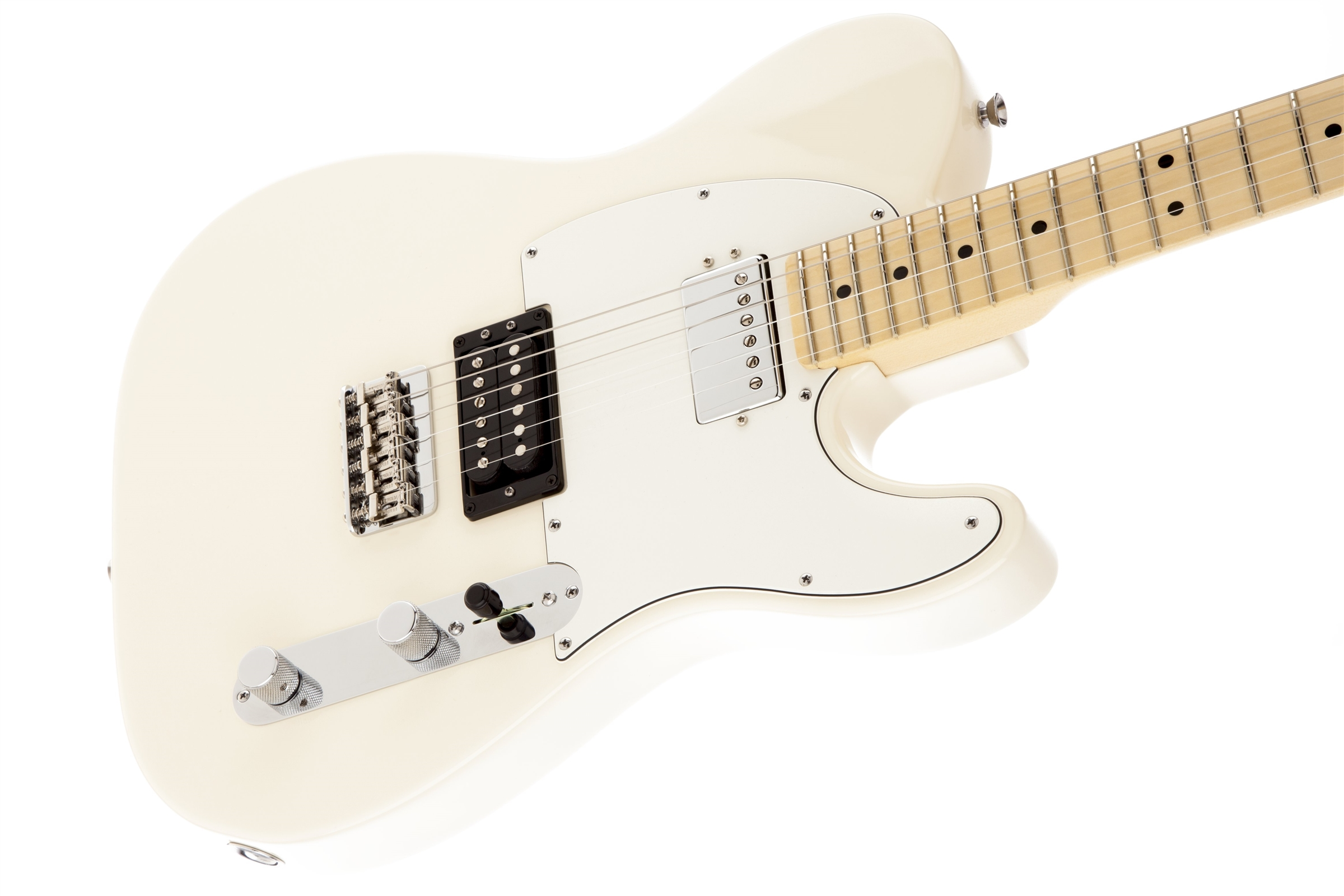 Fender American Standard Telecaster® HH Olympic White MN Electric Guitar