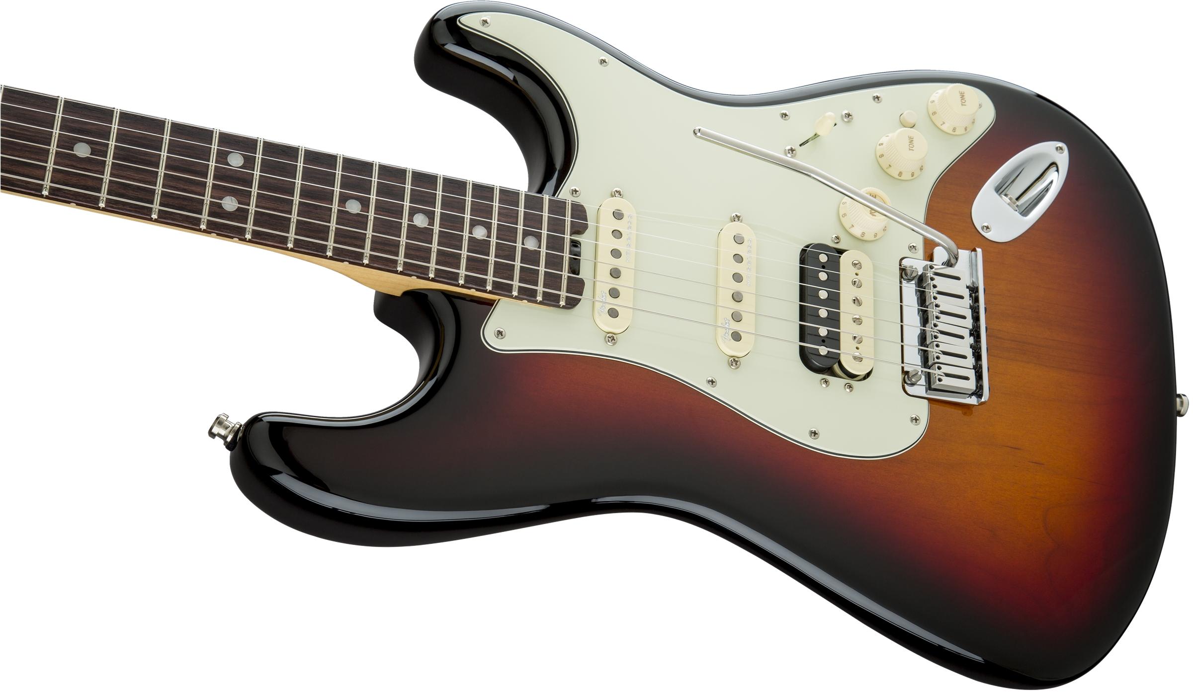 Fender American Elite Stratocaster® HSS Shawbucker 3-Color Sunburst Rosewood Fingerboard Electric Guitar