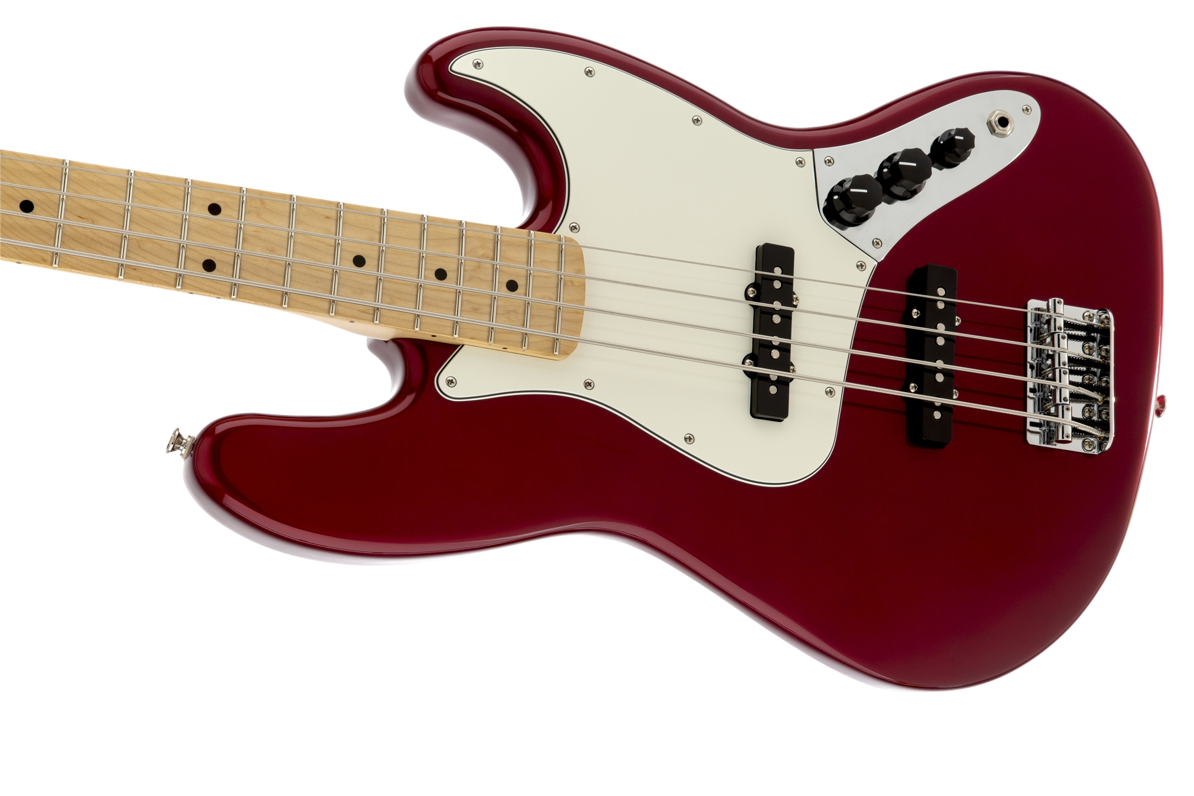 Fender Standard Jazz Bass® Candy Apple Red Maple Fingerboard Electric Bass Guitar